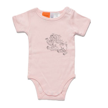 Snowlion (Black) Baby Onesie Thumbnail