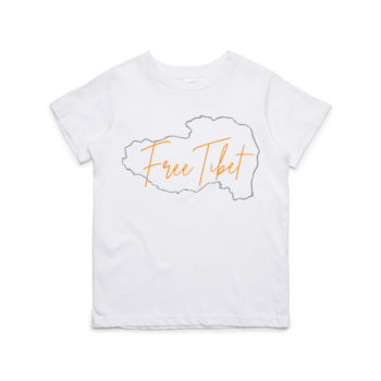 Free Tibet Map (Orange) Children's Tshirt Thumbnail