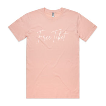 Free Tibet (White) Men's Crew Neck Tshirt Thumbnail